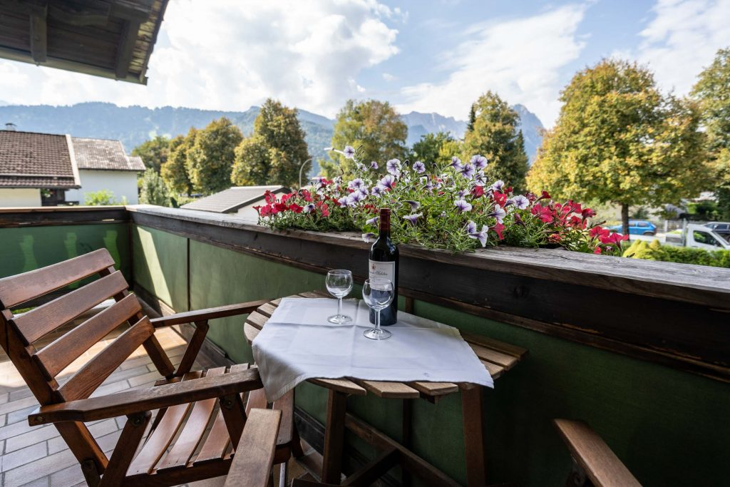 Balkon Richtung Zugspitze